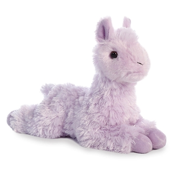 Little Loretta the Stuffed Purple Llama Mini Flopsie by Aurora