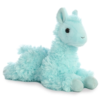 Little Loretta the Stuffed Teal Llama Mini Flopsie by Aurora