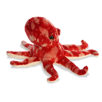Little Pacy the Stuffed Red Octopus Mini Flopsie by Aurora