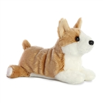 Little Corky the Stuffed Corgi Mini Flopsie by Aurora