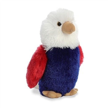 Little Justice the Stuffed Patriotic Eagle Mini Flopsie by Aurora