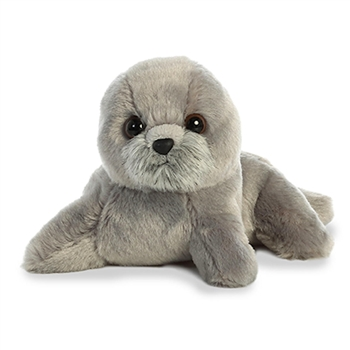Little Harpo the Stuffed Gray Seal Mini Flopsie by Aurora