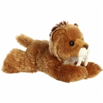 Little Saber the Stuffed Smilodon Mini Flopsie by Aurora