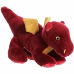Little Ember the Stuffed Red Dragon Mini Flopsie by Aurora