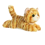 Little Ginger the Stuffed Orange Tabby Cat Mini Flopsie by Aurora