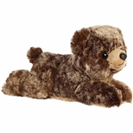 Little Brownie the Stuffed Brown Bear Mini Flopsie by Aurora