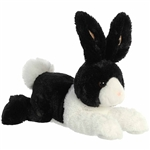 Stuffed Black and White Dutch Bunny Flopsie by Aurora