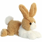 Stuffed Tan and White Dutch Bunny Flopsie by Aurora