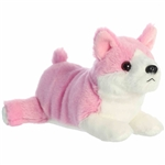 Little Rose the Stuffed Pink Corgi Mini Flopsie by Aurora