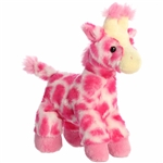 Little Fuchsia the Stuffed Pink Giraffe Mini Flopsie by Aurora