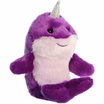 Little Neville the Stuffed Purple Narwhal Mini Flopsie by Aurora