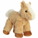 Little Paolo the Stuffed Tan and White Horse Mini Flopsie by Aurora
