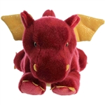 Ember the Stuffed Red Dragon Flopsie by Aurora
