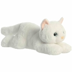 Precious the Plush White Cat Flopsie by Aurora
