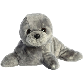 Harvey the Stuffed Gray Seal Flopsie by Aurora