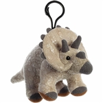 Stuffed Triceratops Clip-On Plush Dinosaur by Aurora