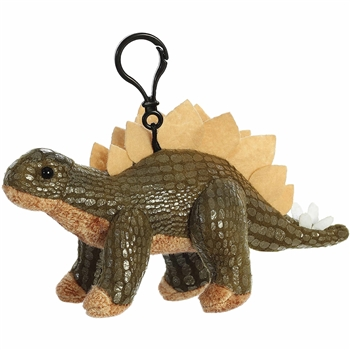 Stuffed Stegosaurus Clip-On Plush Dinosaur by Aurora