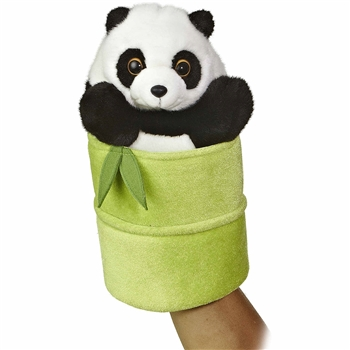 Pop Up Plush Panda Puppet by Aurora