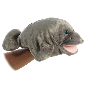 Floatie the Plush Manatee Puppet by Aurora