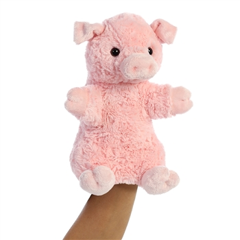 Pinky the Plush Pig Puppet by Aurora
