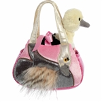 Pet Carrier with Stuffed Ostrich Luxe Boutique Plush by Aurora