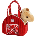 Red Barn Fancy Pals Pet Carrier with Plush Horse by Aurora