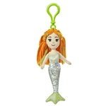 Meriel the Sea Sparkles Plush Green Mermaid with Clip by Aurora