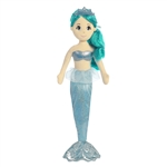 Mala the Plush Mermaid with Teal Doll Hair by Aurora