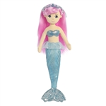 Crystal the Plush Mermaid with Pink Doll Hair by Aurora