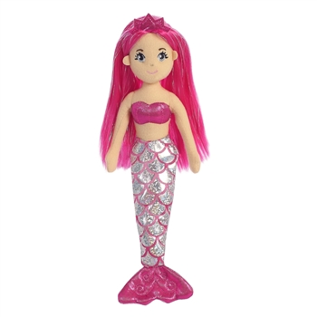 Garnet the Small Pink Mermaid Doll with Pink Hair by Aurora