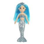 Sapphire the Small Blue Mermaid Doll with Blue Hair by Aurora