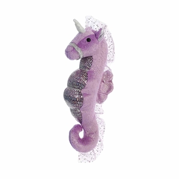 Plush Purple Seahorse Unicorn Stuffed Animal by Aurora