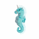 Plush Teal Seahorse Unicorn Stuffed Animal by Aurora