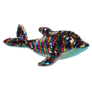 Dollyphin the Sequin Sparkles Dolphin Stuffed Animal by Aurora