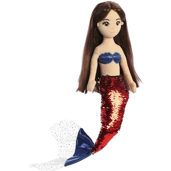 Starla the Sequin Sparkles Red Mermaid Doll by Aurora