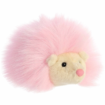 Pink Hedgehog Stuffed Animal Macaron Plush by Aurora