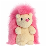 Hot Pink Hedgehog Stuffed Animal Macaron Plush by Aurora