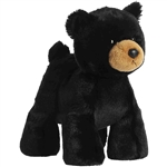 Stuffed Black Bear Splootsies Plush by Aurora