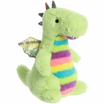 Declan the Rainbow Stuffed Dragon Prisma Party Plush by Aurora
