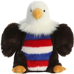 Justice the Stuffed Patriotic Bald Eagle Flopsie by Aurora