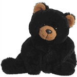 Stuffed Black Bear Schooshies Plush by Aurora