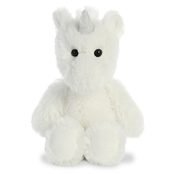 Small Stuffed White Unicorn Cuddly Friends Plush by Aurora