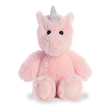 Small Stuffed Pink Unicorn Cuddly Friends Plush by Aurora