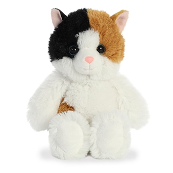 Small Stuffed Calico Cat Cuddly Friends Plush by Aurora
