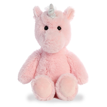 Stuffed Pink Unicorn Cuddly Friends Plush by Aurora