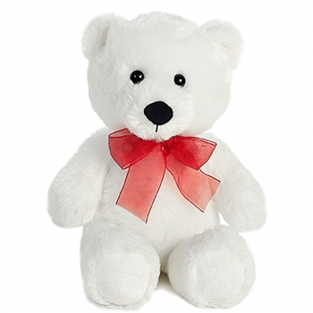 Large Teddy Bear with Red Ribbon by Aurora
