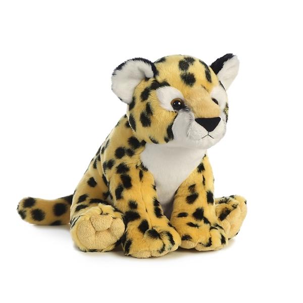 Hansa Cheetah Cub Stuffed Plush Animal Sitting 2992