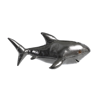 Destination Nation Titanium Silver Shark Stuffed Animal by Aurora
