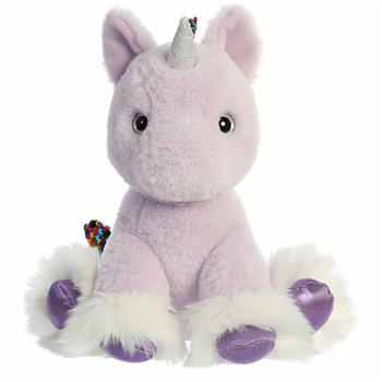 Reversible Sequin Purple Unicorn Stuffed Animal Shimmery Cloud Plush by Aurora