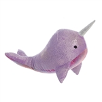Destination Nation Purple Narwhal Stuffed Animal by Aurora